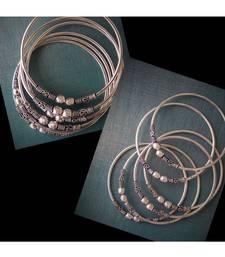 Oxidised Metal Silver Bangle Set Of 6