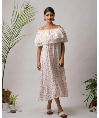 White Mish Cotton Dress