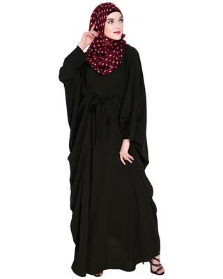 Olive embroidered nida irani kaftan abaya