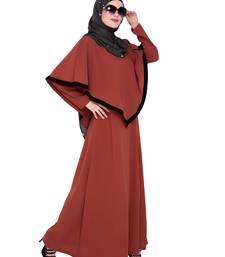 Red embroidered nida abaya