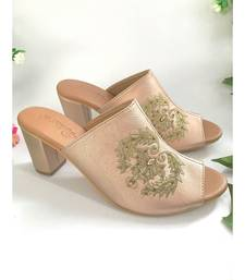 Damask Rose Gold Mules