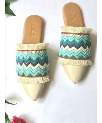 Shaded Fringe Loafers