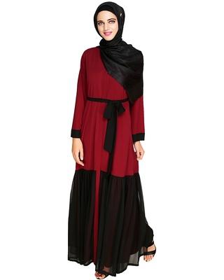 Black embroidered nida abaya