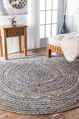 Modern Rug, Sisal Jute Rag Rug Round Circle Home Decor Cotton Jute Rugs