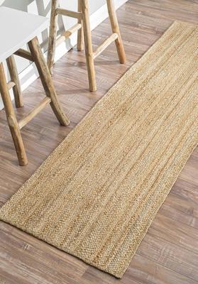 Indian Handmade Handwoven Ribbed Solid Rugs Runner, Beautiful Floor Rug