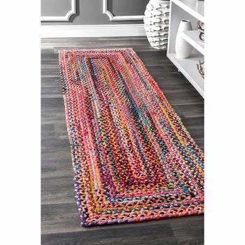 home decor runner rug, RAG RUG, Cotton Rug Runner, meditation mat, rug runner,colourful area rug