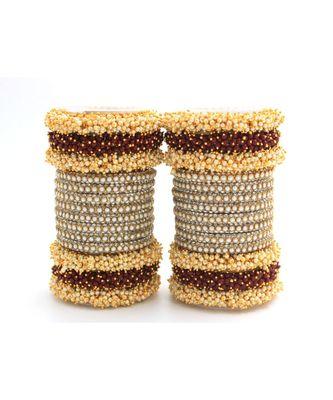 Maroon Set of 2 Lac Bridal Bangle sets