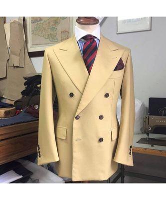 gold wool Latest Design Blazer Coat