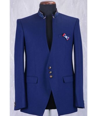 blue wool Latest Design Blazer Coat
