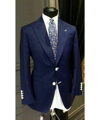blue wool Latest Design Blazer Coat