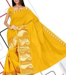 Buy PVC MANGO NO 556 GOLD SAREE cotton-saree online