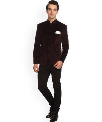 brown Jodhpuri Velvet Coat