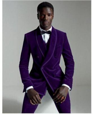 blue Jodhpuri Velvet Suit
