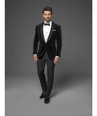 black Jodhpuri Velvet Suit