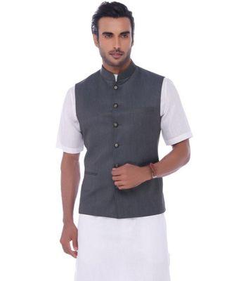 grey Modi Jacket Terry Wool Fabric Latest Design