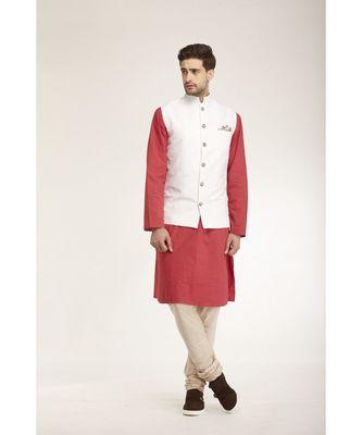 white Modi Jacket Terry Wool Fabric Latest Design