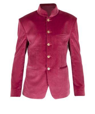 pink Jodhpuri Velvet Coat