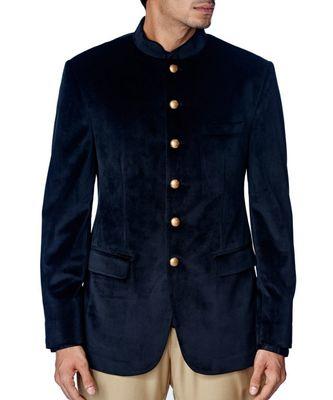 black Jodhpuri Velvet Coat
