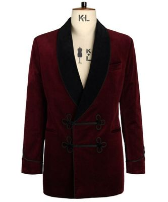 maroon Smoking Blazer Latest Design