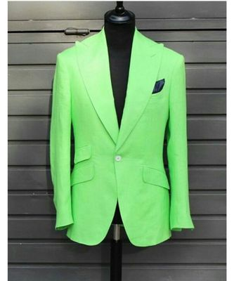 green Latest Design Blazer Coat