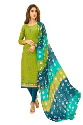 Mehendi embroidered cotton salwar