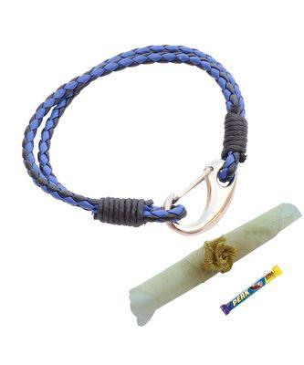 Double Layered Royal Blue & Black  Braided Bracelet cum Rakhi For Brother