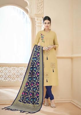 Cream resham embroidery cotton salwar