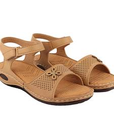 Tan Doctor Sole Flats For Women