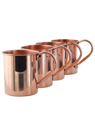 copper plain mug 4 piece