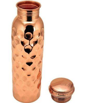 Copper big hammered bottle 1 piece