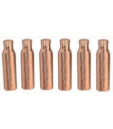 Copper hammered bottle set of 6 piece