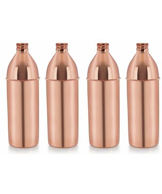 Copper small cap bottle set of 4 piece
