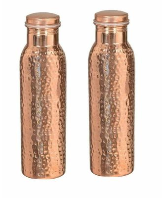 Copper hammered bottle set of 20 piece