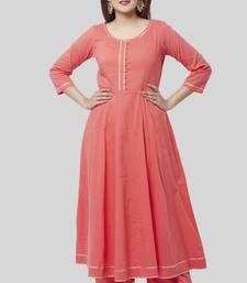 orange Gotta Anarkali with Straight Palazzo