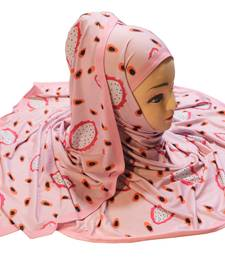 Justkartit Women'S Casual Wear Jersey Stretchable Material Digital Printed Hijab Scarf Dupatta