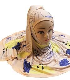 Justkartit Women'S Jersey Stretchable Material Daily Wear Digital Printed Hijab Scarf Dupatta