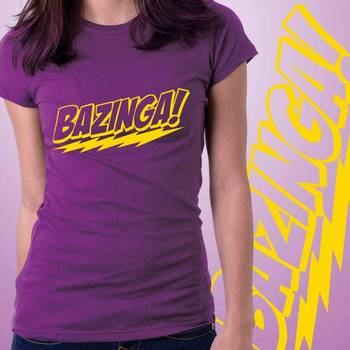 Bazinga Womens Graphic T-shirt at Low Price