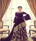 Buy Purple Embroidered Georgette Salwar