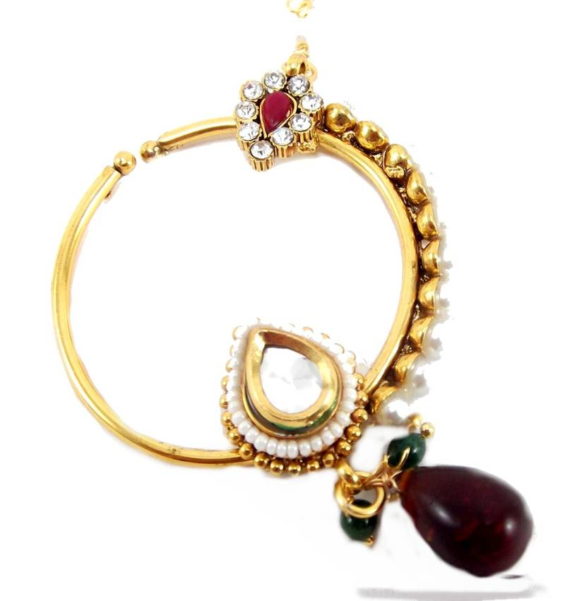Delighted Simple Designer Nath Catalog Images - Jewelry Collection ...
