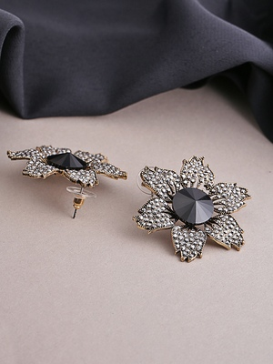 Copper crystal earrings