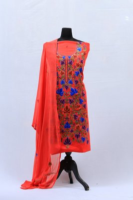 Pink Aari Silk Salwar