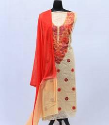 Red Aari Cotton Salwar