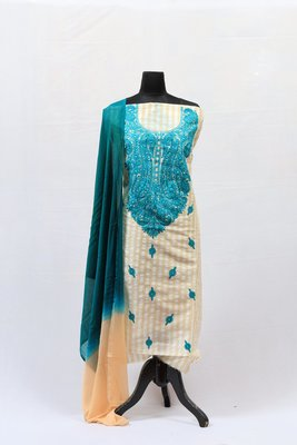 Green Aari Silk Salwar