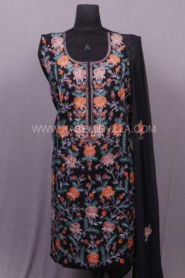 Black Aari Cotton Salwar
