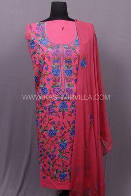 Pink Aari Cotton Salwar