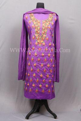 Purple Aari Cotton Salwar