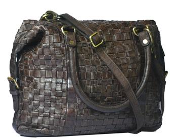 Annodyne Women's Leather Shoulder/Hand Bag (Black)