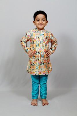 printed kurta and plain pant