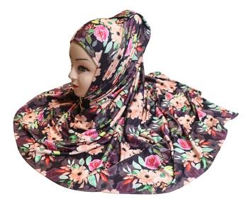 Justkartit Women'S Festive Wear Jersey Stretchable Material Printed Hijab Scarf Dupatta