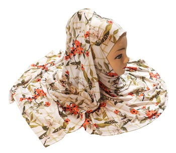 Justkartit Casual Wear Jersey Stretchable Material Printed Hijab Scarf Dupatta For Women